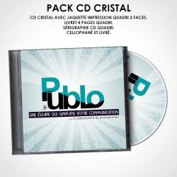 Sérigraphie et gravure sur CD CRISTAL + Livret 4 pages