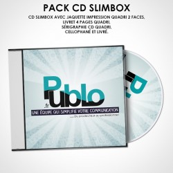 Sérigraphie et gravure sur CD SLIMBOX + Livret 4 pages