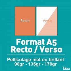 Flyers A5 Recto/Verso de 90 à 170 gr option pelliculage
