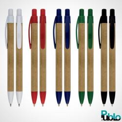 Stylos publicitaires Éco AC5005 5 couleurs de 1 marquage