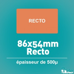 Carte PVC 500µ 86x54mm, Recto et Recto/Verso