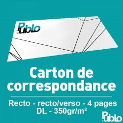 Carton de correspondance / d'invitation DL (210 x 105 mm)