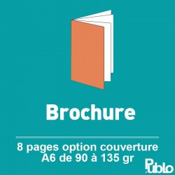 Brochure A6 8 pages de 90 à 135 gr option couverture