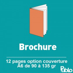 Brochure A6 12 pages de 90 à 135 gr option couverture