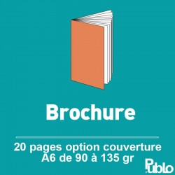 Brochure A6 20 pages de 90 à 135 gr option couverture