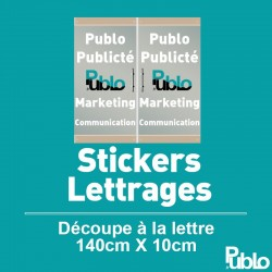 Stickers Lettrages - Dimensions 140cm X 10cm