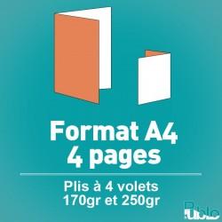 Dépliants A4 4 pages