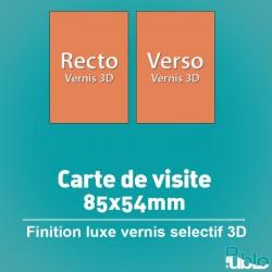 Carte de visite - Finition luxe vernis sélectif 3D