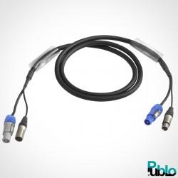 Câble alimentation + DMX