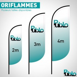 Drapeaux Oriflammes - 2m / 3m / 4m