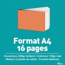 Brochure A4 de 8 à 68 pages Format à l'italienne