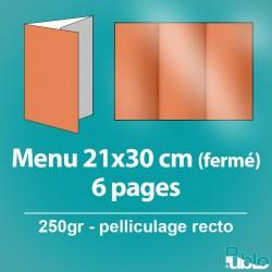Menu - dépliant 6 pages (42x29,7cm ouvert)