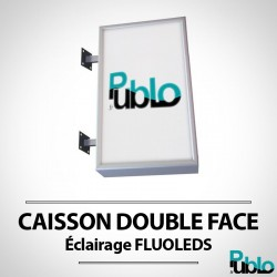 Caisson lumineux - DOUBLE FACE