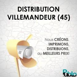 VILLEMANDEUR - 696 distribution en boites aux lettres