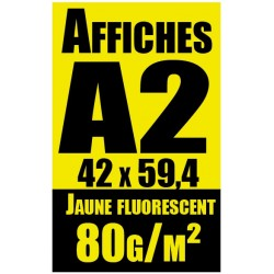Affiches A2 Fluo jaune