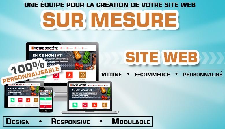 Une équipe pour la création de votre site web sur mesure